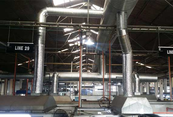 Our <b>in-house</b> sheet metal duct shop can <b>design and manufacture ducting</b>